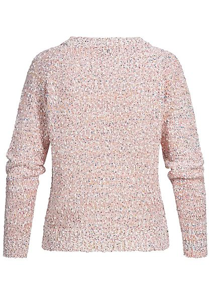 ONLY Damen Strickpullover Struktur-Stoff blushing bride rosa multicolor