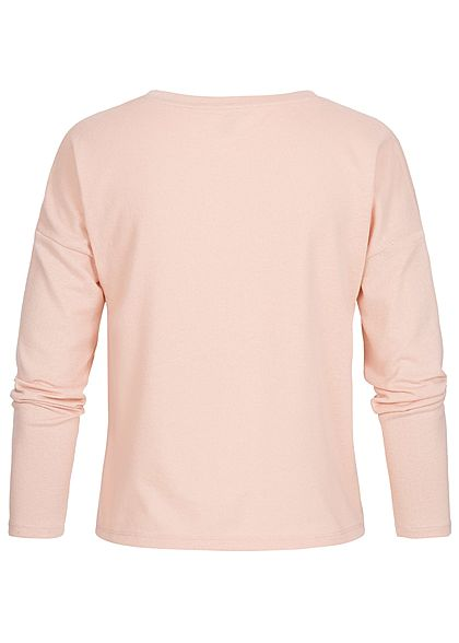 ONLY Damen Longsleeve Knotendetail vorne misty rosa
