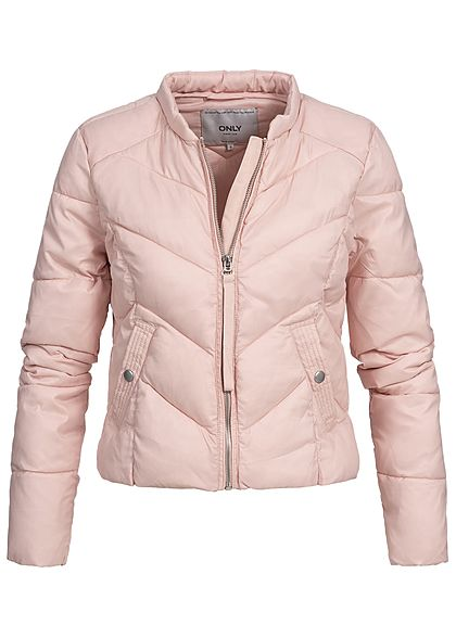 ONLY Damen Nylon Steppjacke 2 Taschen smoke rosa