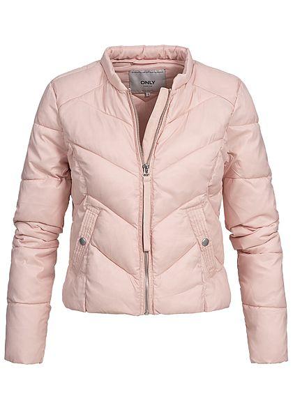 reputable site fc77d a679c ONLY Damen Nylon Steppjacke 2 Taschen smoke rosa