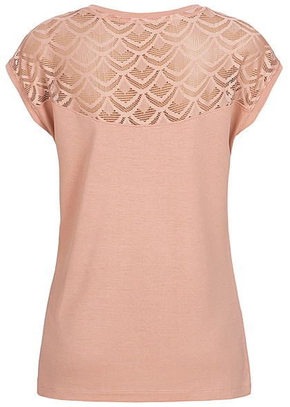 ONLY Damen Lace Shirt NOOS misty rosa