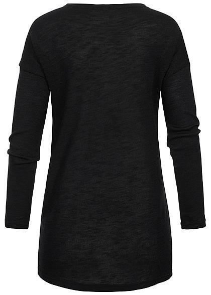 Hailys Damen Basic Cardigan 2-Pockets offener Schnitt schwarz