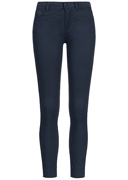 JDY by ONLY Damen Skinny Jeans Hose 5-Pockets Knöchellang sky captain blau