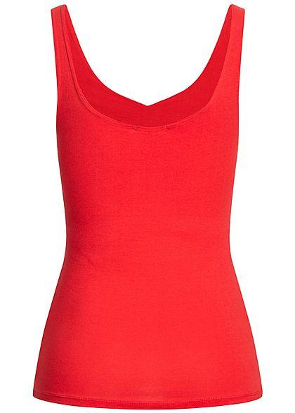 Seventyseven Lifestyle Damen Tank Top V-Ausschnitt rot