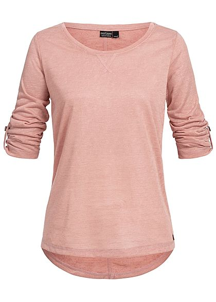Eight2Nine Damen 3/4 Arm Turn-Up Shirt rosa
