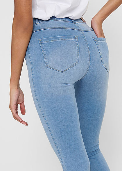 ONLY Damen NOOS High-Waist Skinny Jeans Hose 5-Pockets hell blau denim
