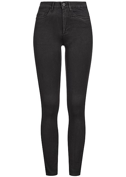ONLY Damen Skinny Jeans Hose 5-Pockets High Waist NOOS schwarz denim