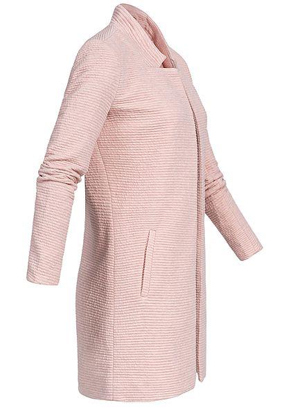 ONLY Damen Coatigan Blazer Ripp-Muster smoke rosa