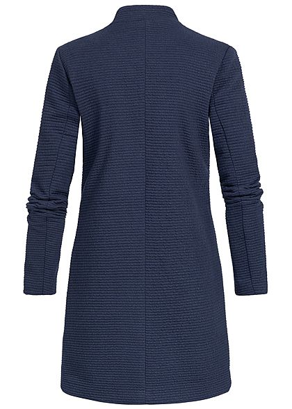 ONLY Damen Coatigan Blazer Ripp-Muster black iris navy blau