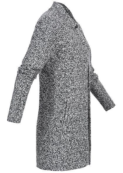 ONLY Damen Coatigan Blazer 2 Taschen dunkle grau melange