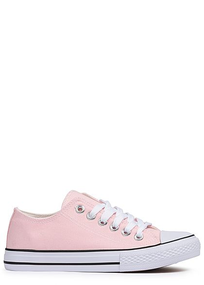 050aeaafe12e4b Seventyseven Lifestyle Damen Schuh Canvas-Sneaker rosa - 77onlineshop