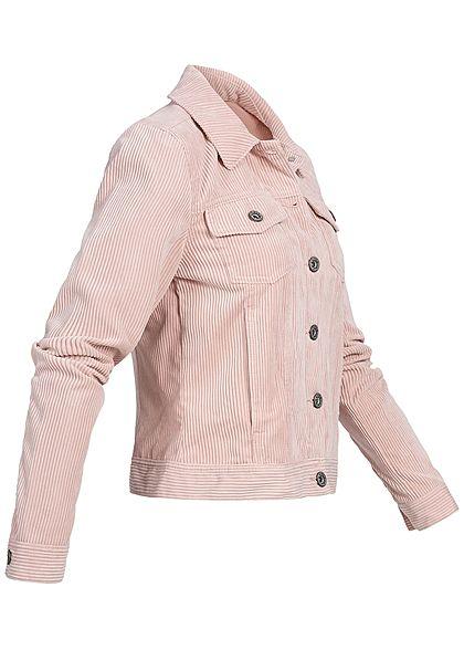 ONLY Damen Jeans Cordjacke 2 Brusttaschen misty rosa