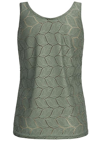 JDY by ONLY Damen Tank Top Cut Out castor gray olive grün