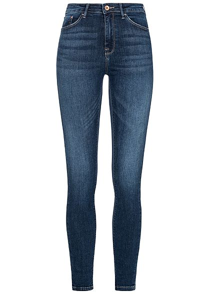 ONLY Damen Skinny Jeans 5-Pockets High Waist NOOS dunkel blau denim