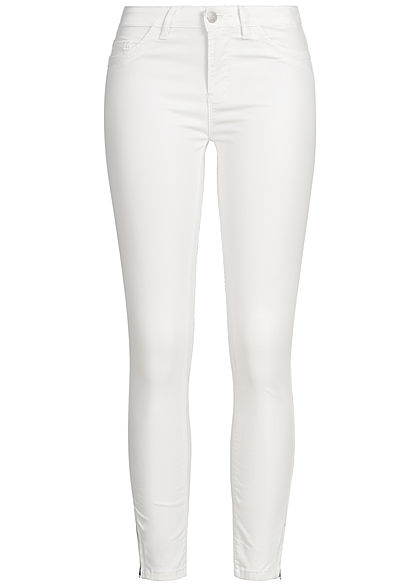 Hailys Damen Ankle Skinny Trousers off weiss