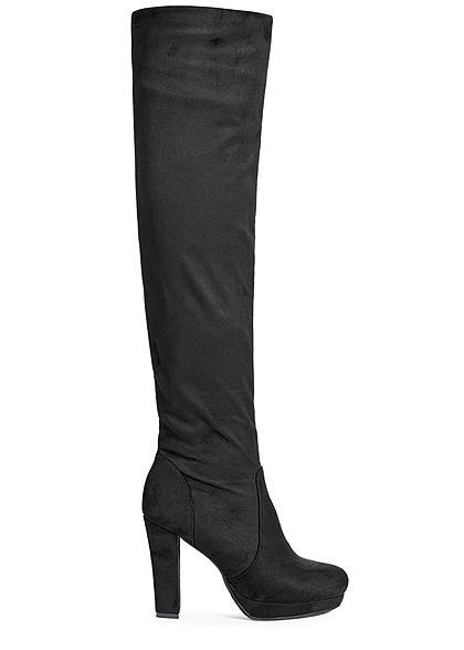 a2f210adc62946 Seventyseven Lifestyle Damen Schuh Overknee Stiefel Kunstleder ...