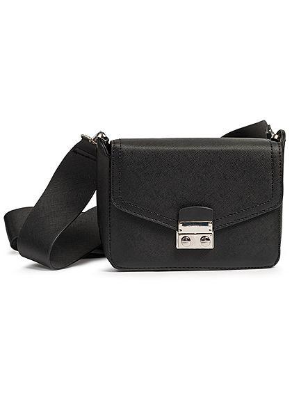 Hailys Damen Mini Kunstleder Handtasche 20x13cm schwarz