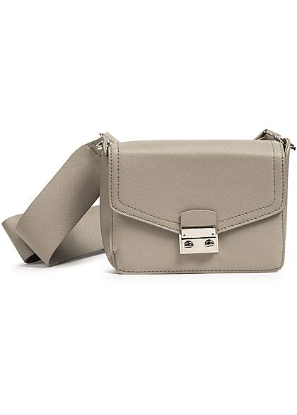 Hailys Damen Mini Kunstleder1 Handtasche 20x13cm grau