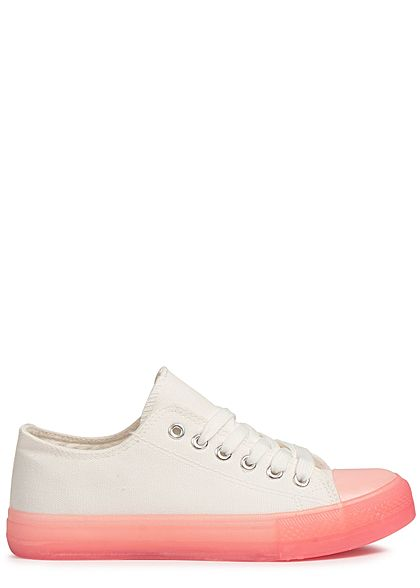 Seventyseven Lifestyle Damen Shoes Canvas-Sneaker pink weiss