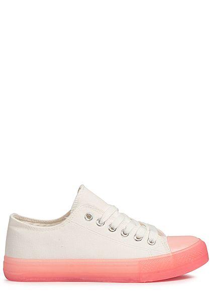 3926c2380d0309 Seventyseven Lifestyle Damen Shoes Canvas-Sneaker pink weiss - 77onlineshop