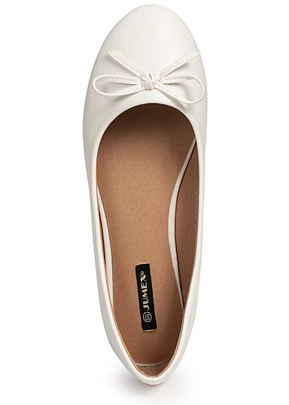 Seventyseven Lifestyle Damen Bow Flat Shoes weiss