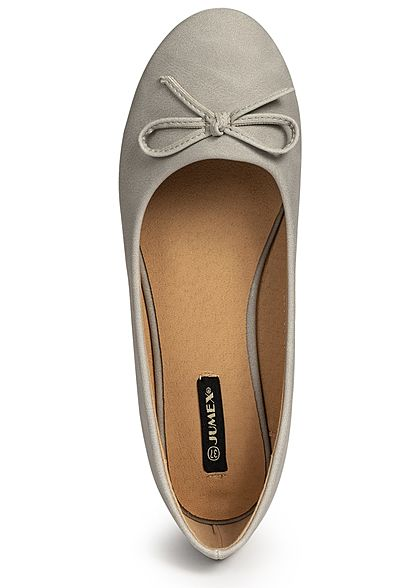 Seventyseven Lifestyle Damen Bow Flat Shoes hell grau