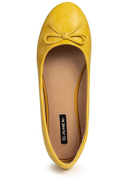 Seventyseven Lifestyle Damen Bow Flat Shoes gelb