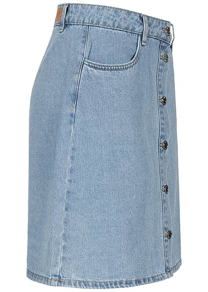 ONLY Damen NOOS Jeansrock mit Knopfleiste 4-Pockets hell blau denim