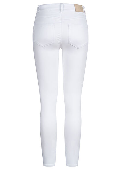 ONLY Damen NOOS Jeans Hose Skinny High-Waist 5-Pockets weiss denim