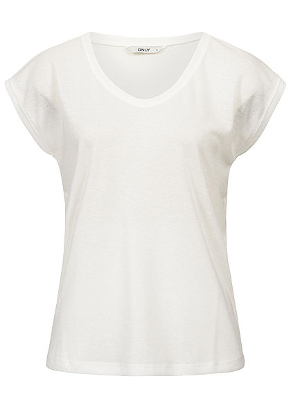 ONLY Damen Lurex Shirt NOOS weiss