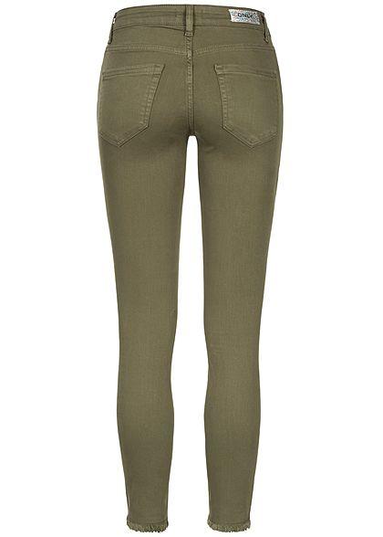 ONLY Damen NOOS Ankle Skinny Jeans 5 Pockets Regular fit kalamata olive grün