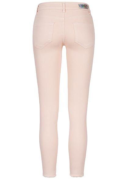ONLY Damen NOOS Ankle Skinny Jeans 5 Pockets Regular fit peach whip rosa