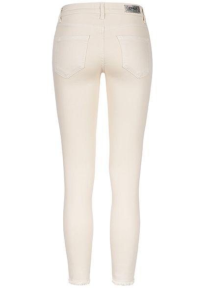 ONLY Damen Ankle Skinny Jeans 5-Pockets NOOS egret beige