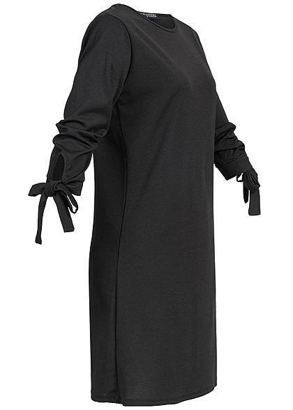Styleboom Fashion Damen Bow Sleeve Dress schwarz