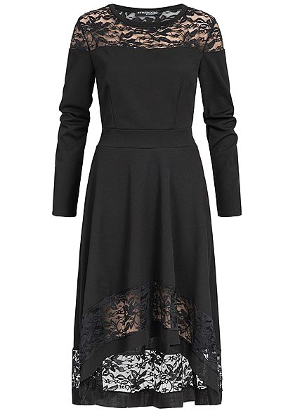 Styleboom Fashion Damen Lace Dress Short Front Back