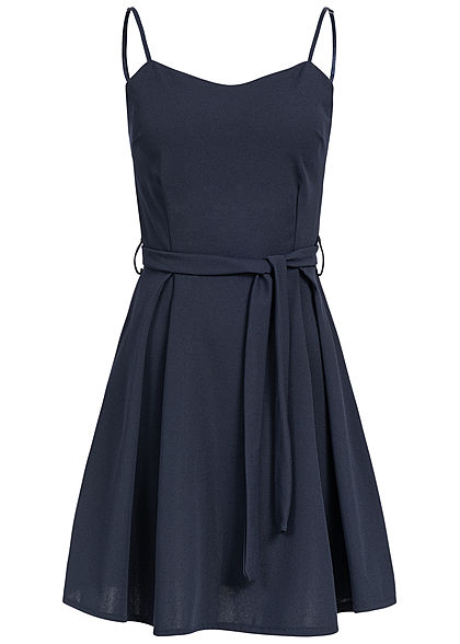Styleboom Fashion Damen Bow Strap Dress navy blau