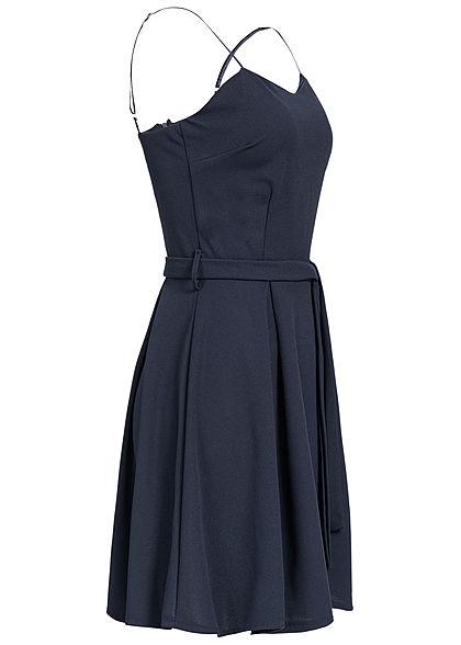 Styleboom Fashion Damen Bow Strap Dress navy blau