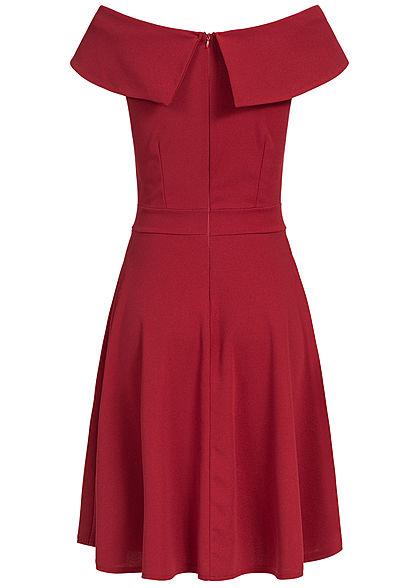 Styleboom Fashion Damen Off-Shoulder Dress rot