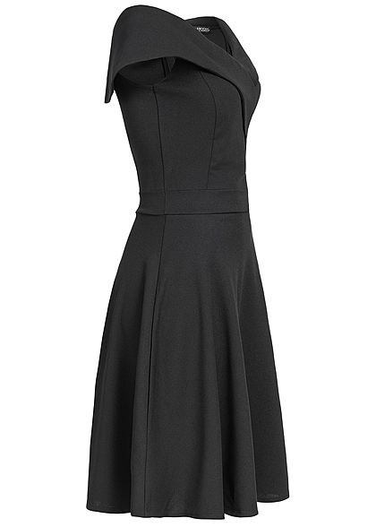 Styleboom Fashion Damen Off-Shoulder Dress schwarz