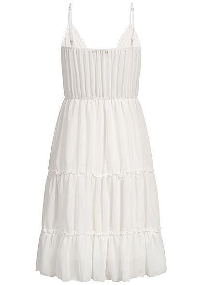 Styleboom Fashion Damen Lace Strap Dress weiss