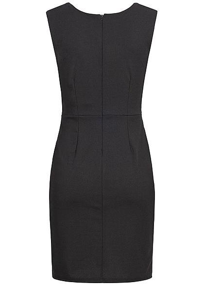 Styleboom Fashion Damen Lace Dress V-Neck schwarz rosa