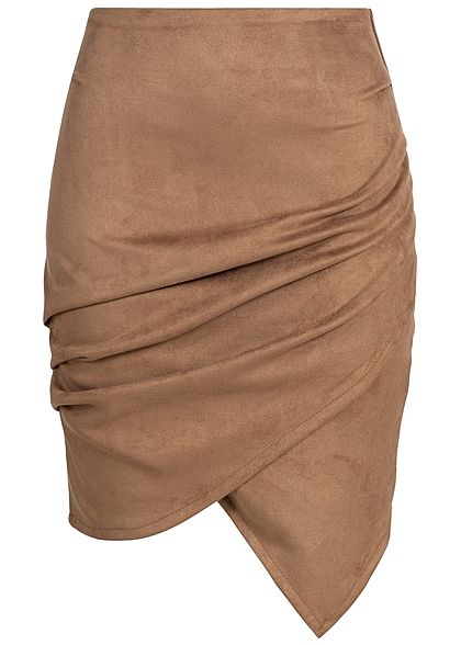 Styleboom Fashion Damen Wrapped Skirt braun
