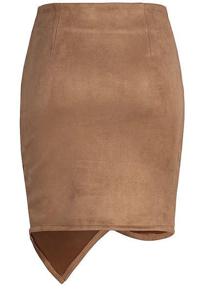 Styleboom Fashion Damen Wrapped Skirt braun