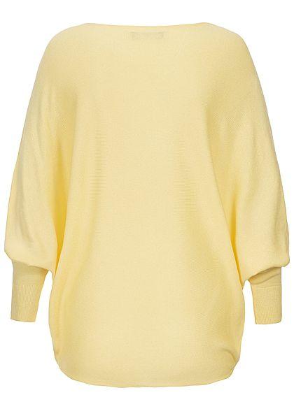 Styleboom Fashion Damen Bat Wings Shirt gelb