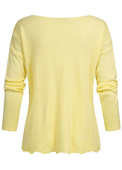 Styleboom Fashion Damen Basic Longshirt gelb