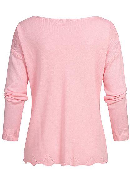 Styleboom Fashion Damen Basic Longshirt rosa