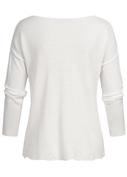 Styleboom Fashion Damen Basic Longshirt weiss