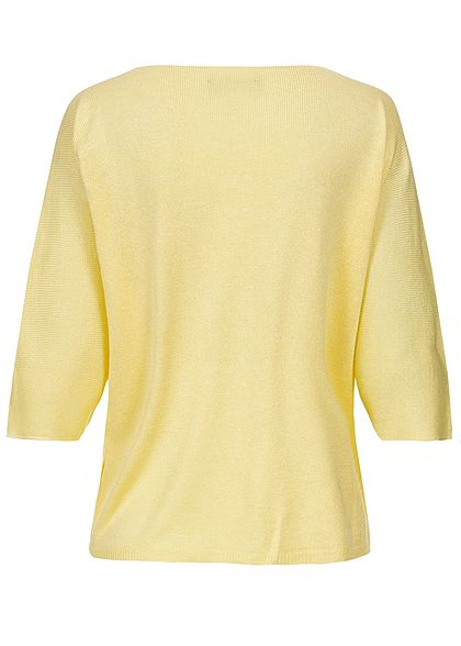 Styleboom Fashion Damen Bat Wings Structure Heart Shirt gelb