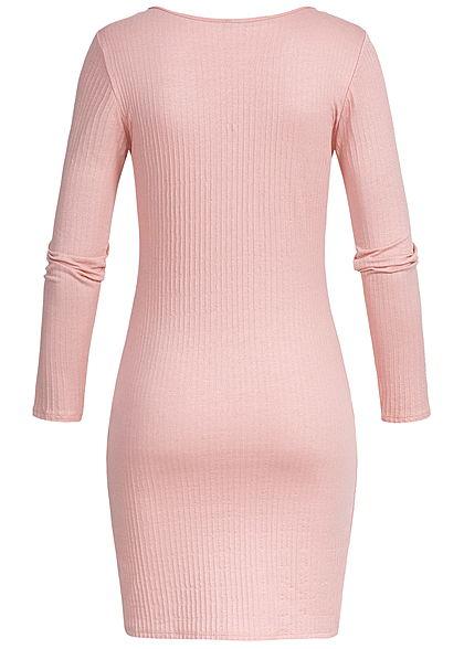 Styleboom Fashion Damen Bodycon Dress Big Zipper rosa