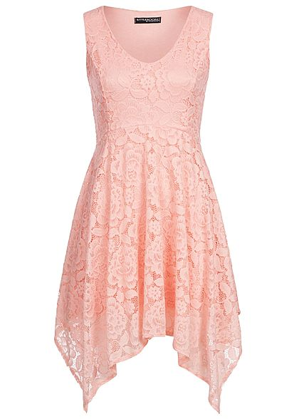 Styleboom Fashion Damen Allover Lace Dress rosa